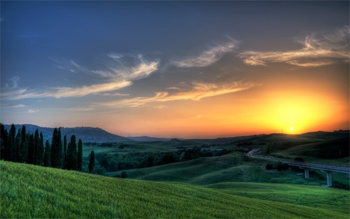 tuscan sunset wallpaper