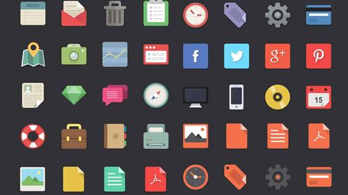 free designer flat icons