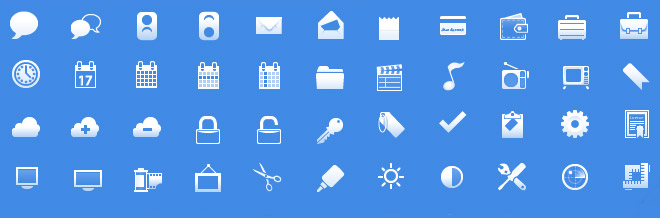 30+ Free Mobile & Web Application Icons