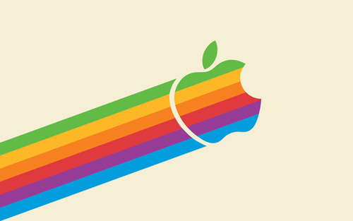 flying apple wallpaper