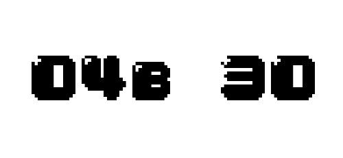 new pixel font