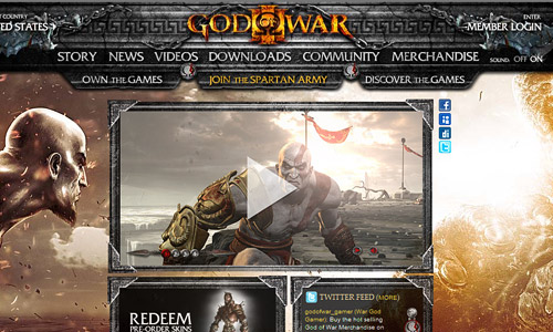 God of War Game Website