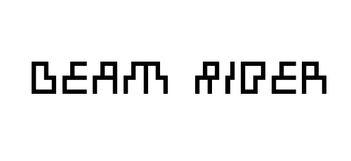 beam rider font