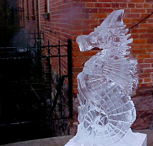 sea horse ice sculpture