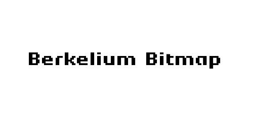 berkelium pixel font