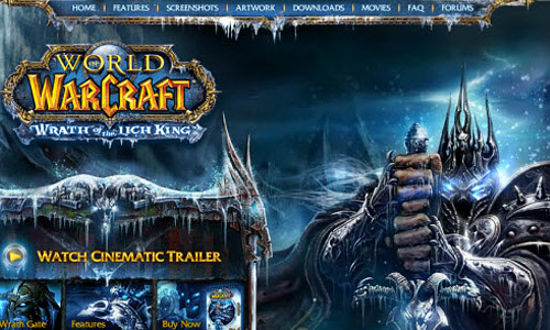 World of Warcraft Wrath of the Lich King Game Website
