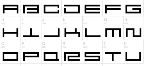 square pusher font