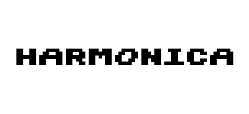 harmonica pixel font