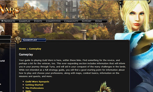 Guild Wars Franchise Game Website