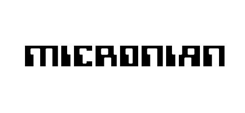 micronian pixel font
