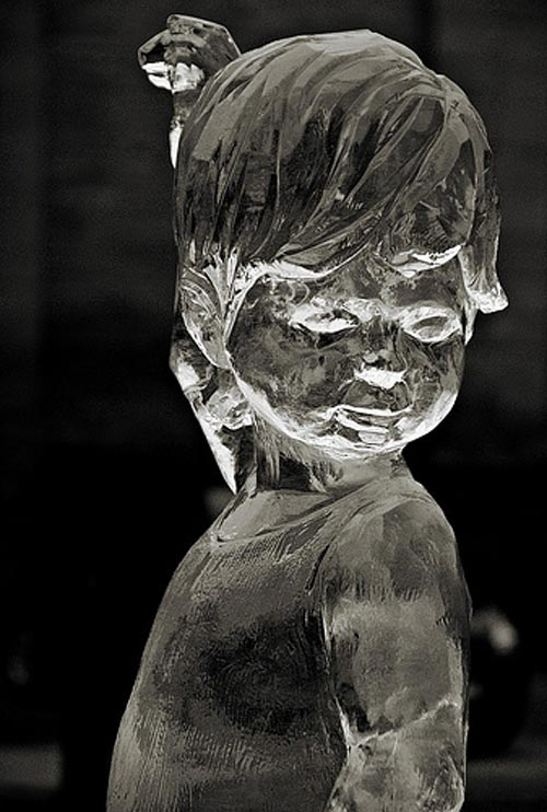 boy ice sculpture