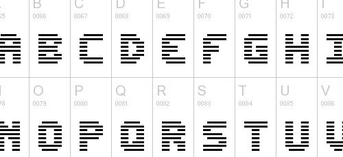 edit undo line pixel font