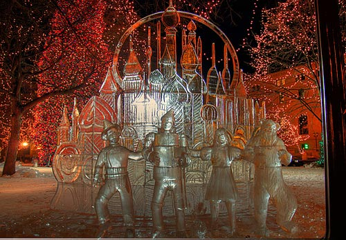 wizard of oz ice sculpture