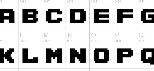 pretty cool pixel font