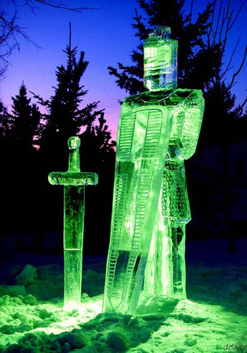 knight ice sculpture