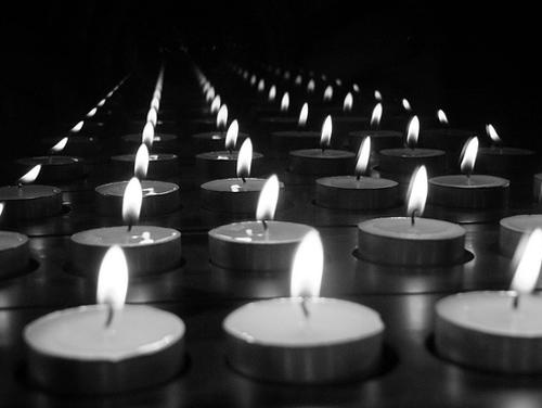 reflecting candlelight