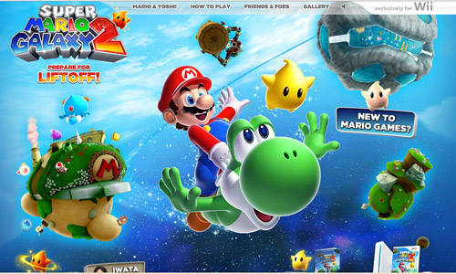 Super Mario Galaxy Game Website