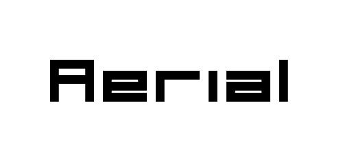 aerial pixel font