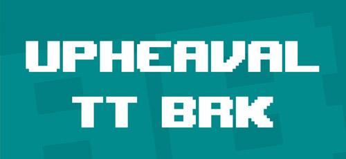 upheaval bitmap fonts free