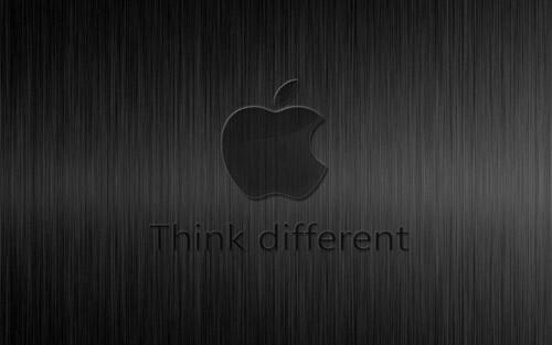 apple wallpaper think
