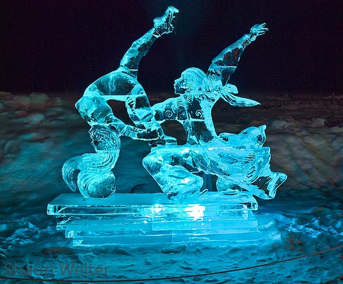 eagle ice sculpture