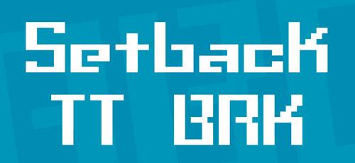 setback free bitmap fonts