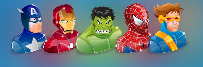 Exclusive Freebie: 5 Marvelous Superhero Icons