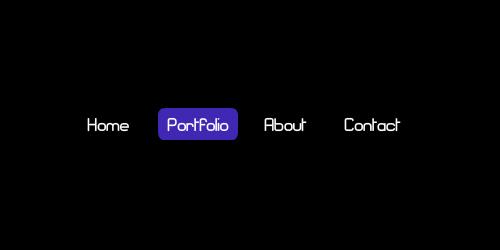 horizontal flash menu