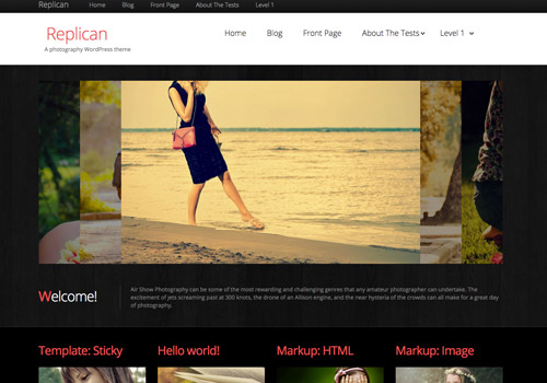 black photography wordpress