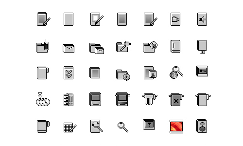 trans system icon set