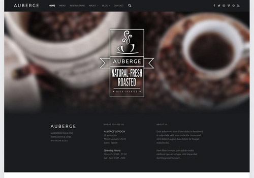 responsive restaurant wordpress