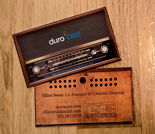 new durocast business card