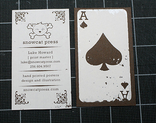 snowcat press business card