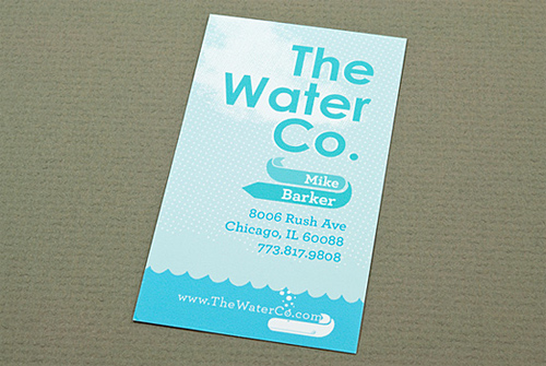 the water business card