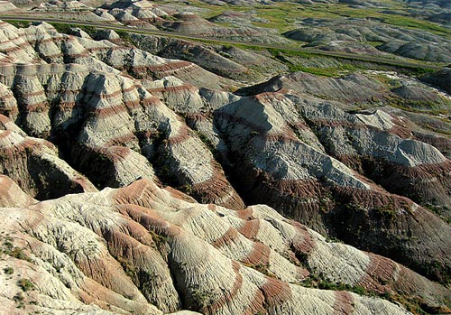 badlands aerial photography