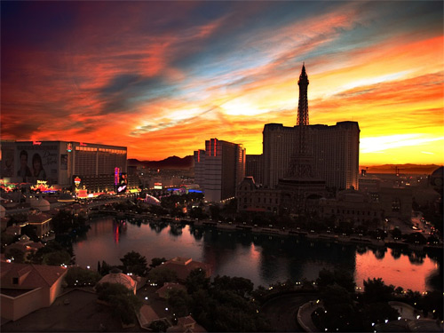 Las vegas sunrise wallpaper