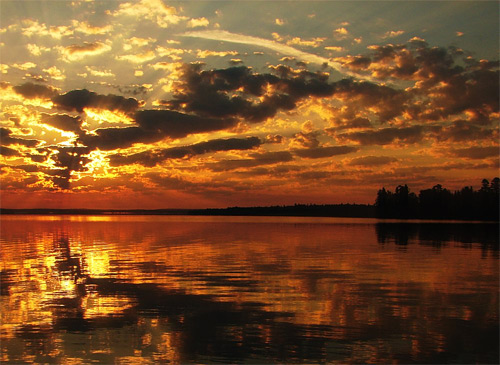 Lac seul sunrise wallpaper