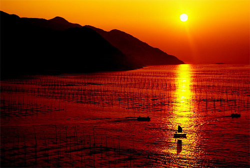 Sunrise over Xiapu, China wallpaper