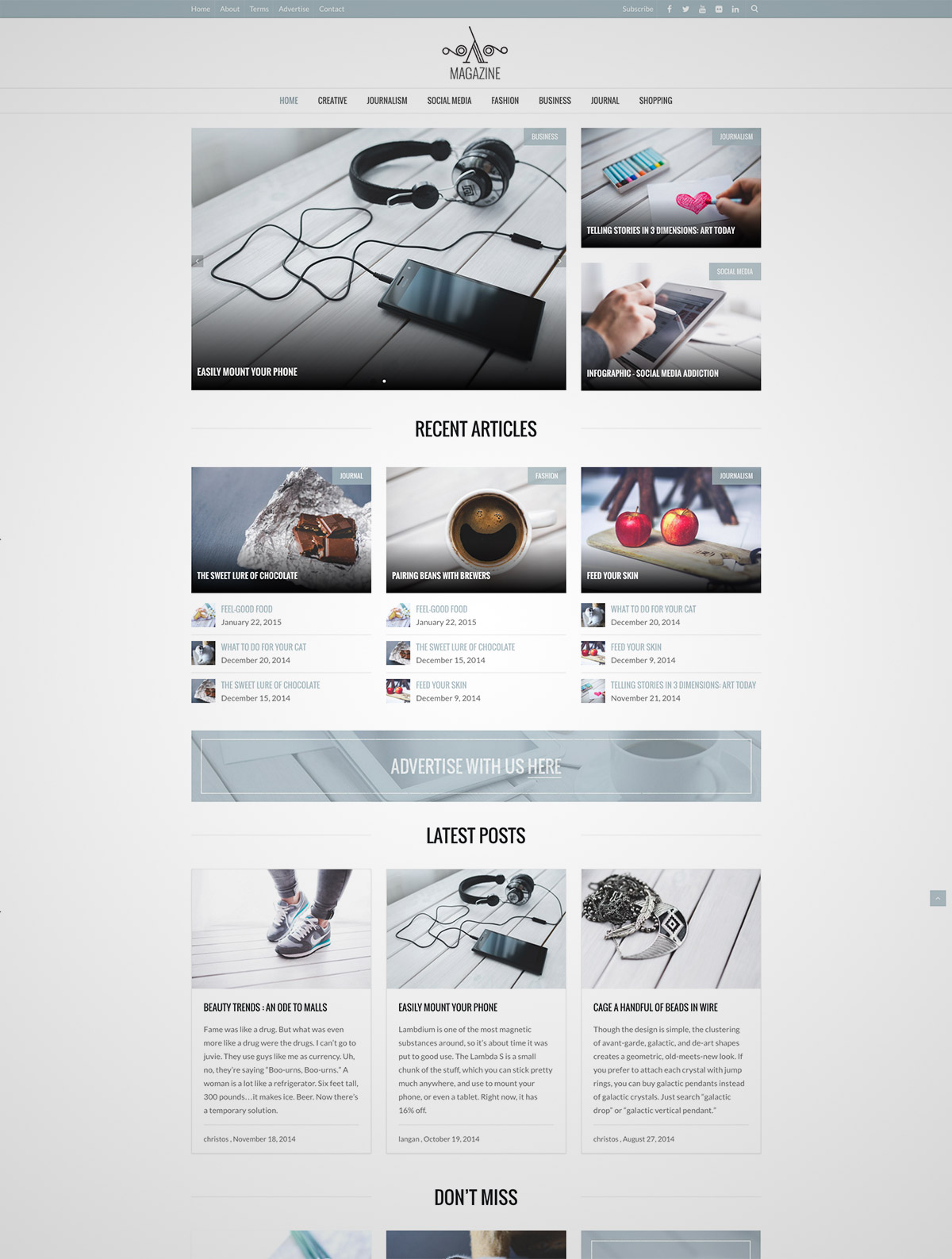 magazine bootstrap wordpress