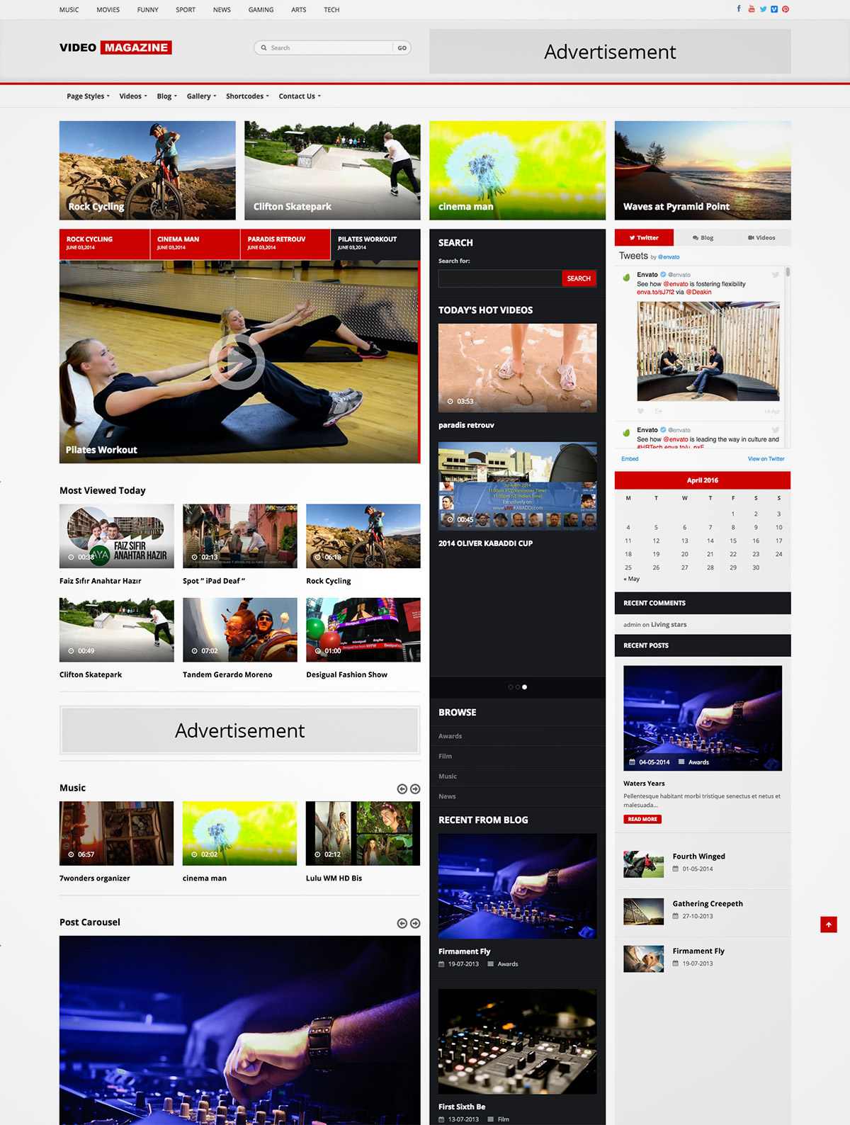 video magazine theme