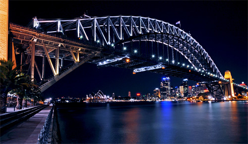 harbour bridge night photography