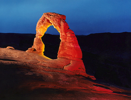 rock formation night photography