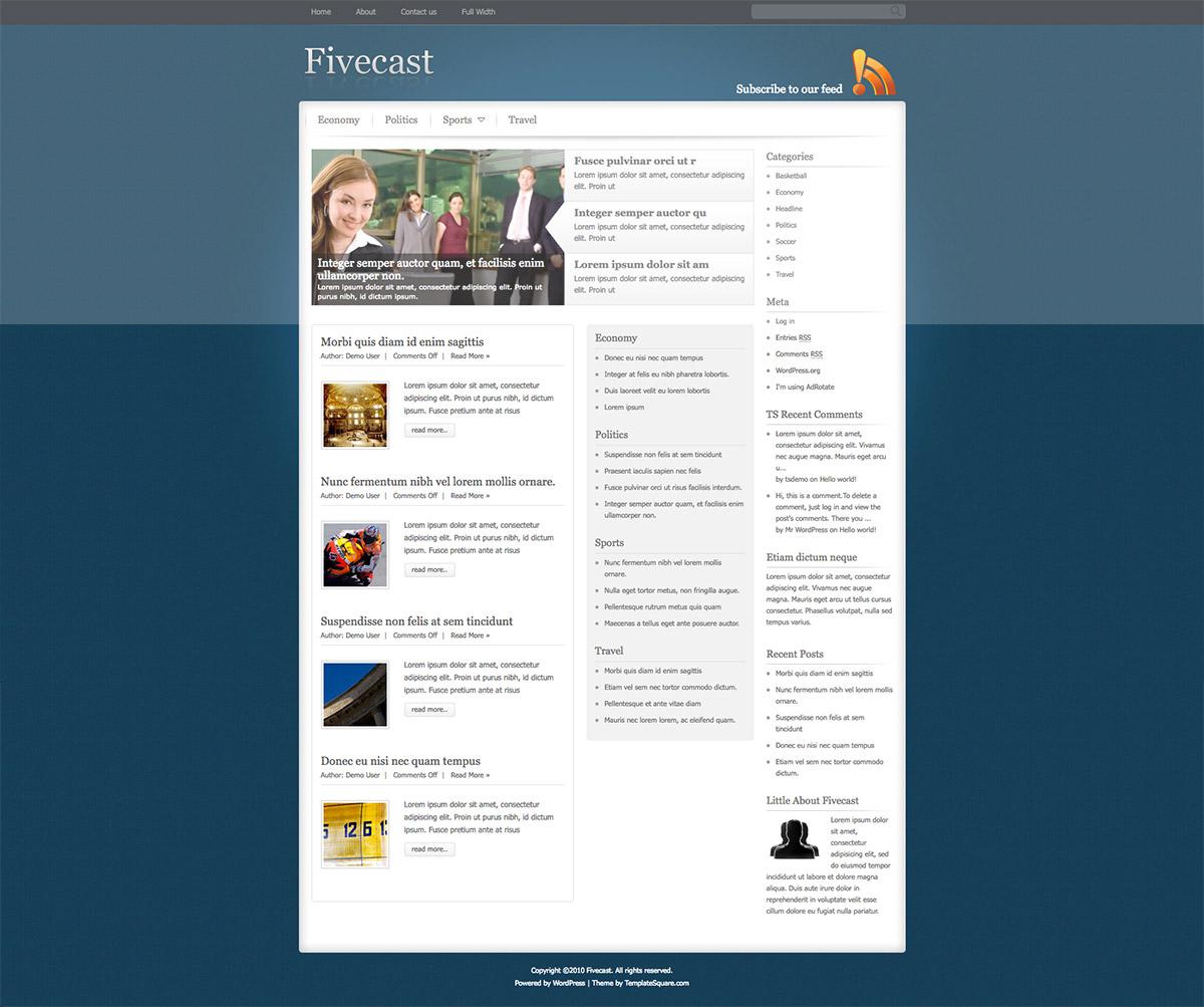 premium magazine theme