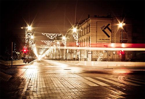 sepiatic night photography