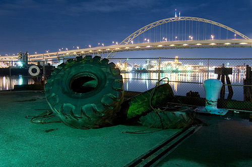 tire night photography