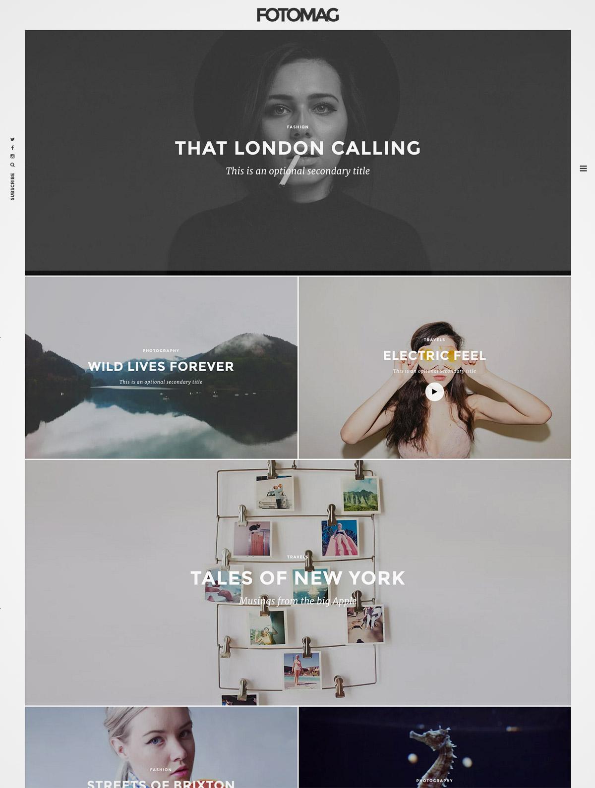 magazine portfolio theme
