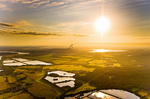 shiny aerial photography