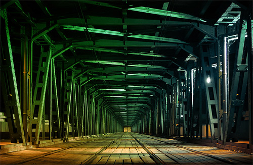 bridge passage night photography