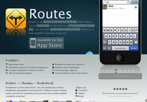 routes app