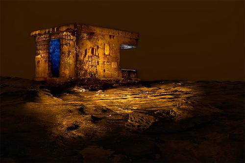 bunker night photography